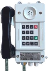 Взрывозащищенный шахтный телефонный аппарат с номеронабирателем и световой индикацией вызова ТАШ-11ЕхI-С
